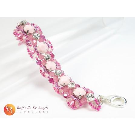 Bracelet superduo pink Agnese 05