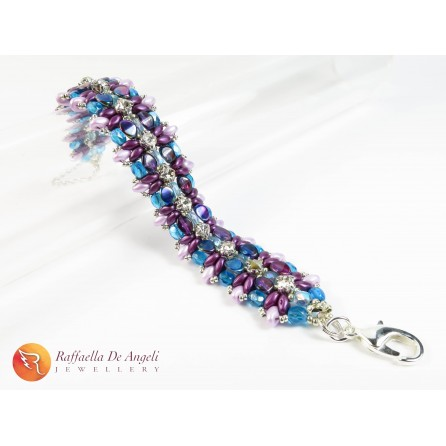 Bracelet superduo purple Monica 04