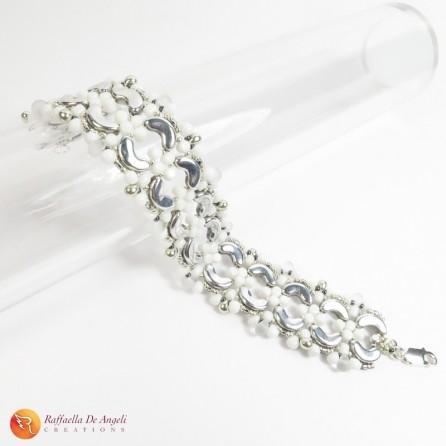 Bracciale perline arcos bianco Aurora 01