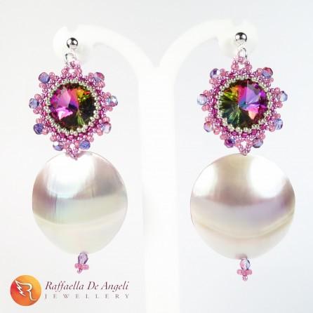 Earrings peyote crystal Esperia 01