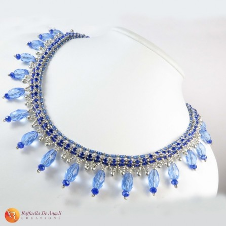 Necklace beads crystal Lucia 01