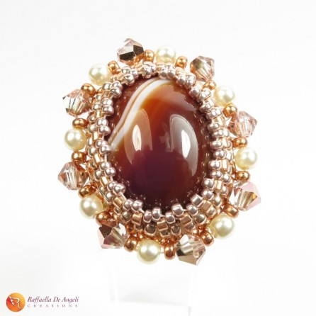 Ring brown agate Rachele 01