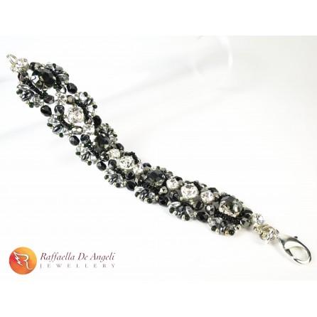 Bracelet superduo black Agnese 07
