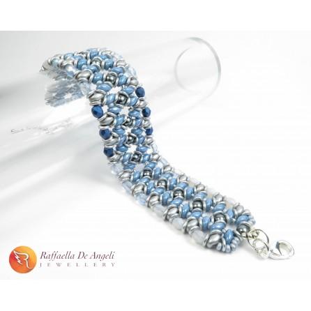 Bracelet blue and grey Adriana 03