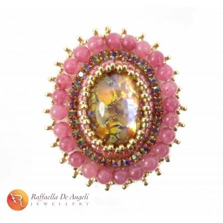 Ring pink peyote Vittoria 04