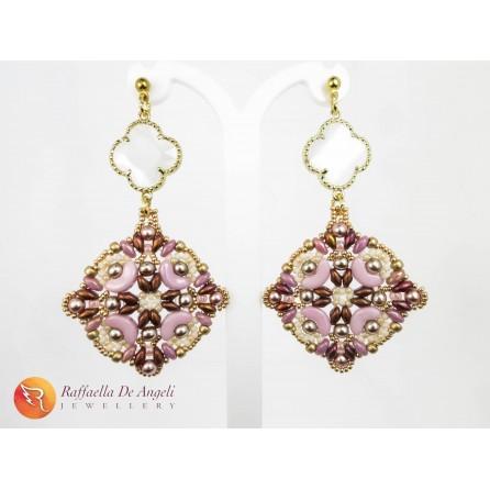 Earrings nacre pink Ersilia 01