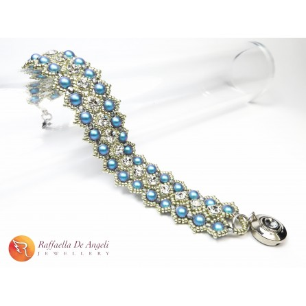 Bracelet blue Swarovski Sofia 01