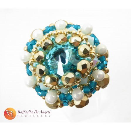 Ring crystal blue Beatrice 11