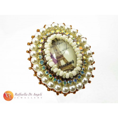 Anello marrone peyote Vittoria 02