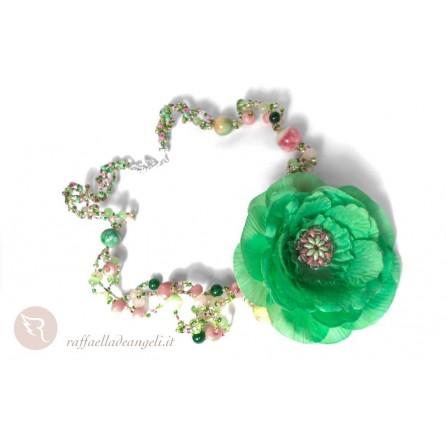 Necklace superduo crystal jade Michela 02