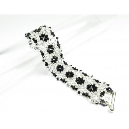 Bracelet superduo crystals Francesca 01