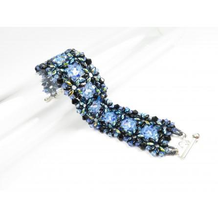 Bracelet superduo crystal Francesca 02
