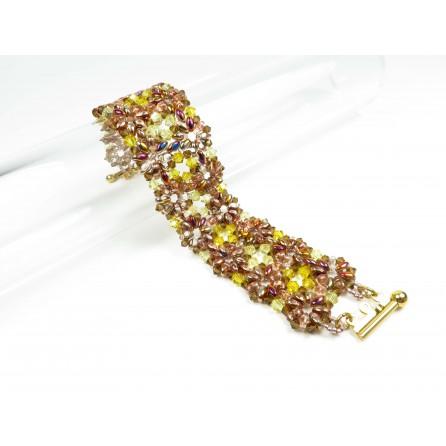 Bracelet superduo crystals Francesca 03