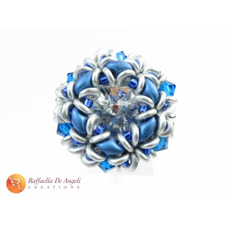 Ring crystal superduo Dalia 07