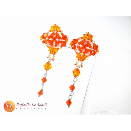 Earrings beads crystal Emma 05
