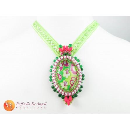 Necklace superduo cabochon Allegra 01