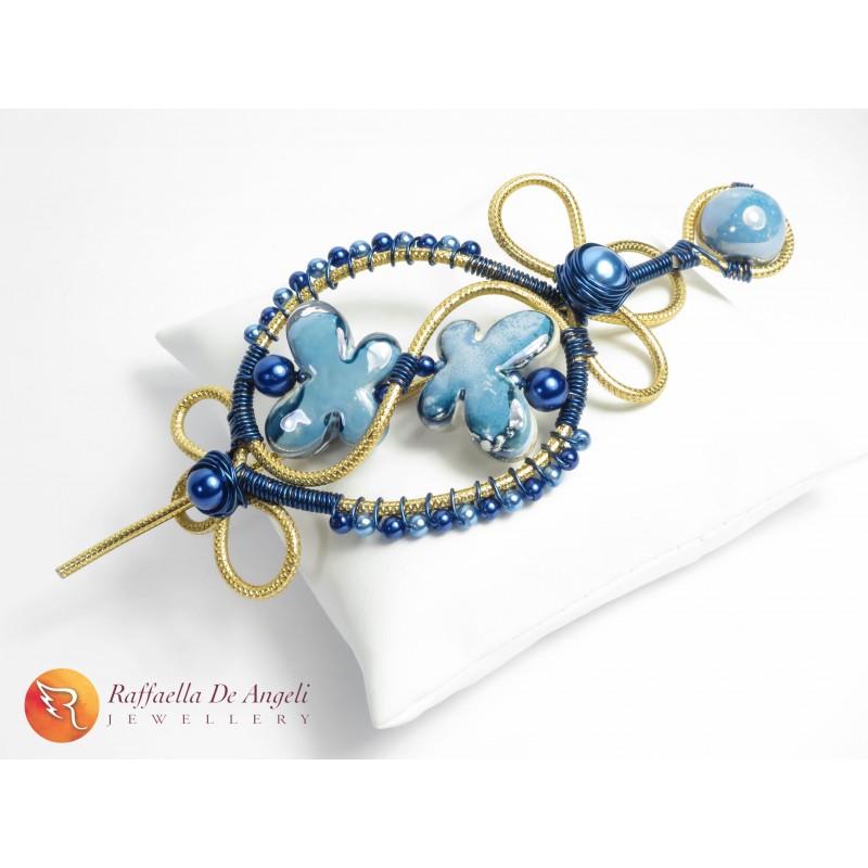 selezione premium c33d2 3fb7c Fermacapelli wire blu 01 raffaella de angeli