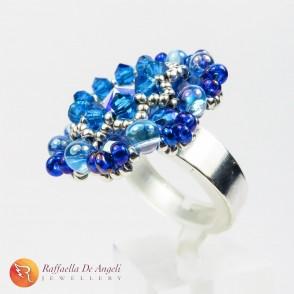 Anello swarovski blu Beatrice 03