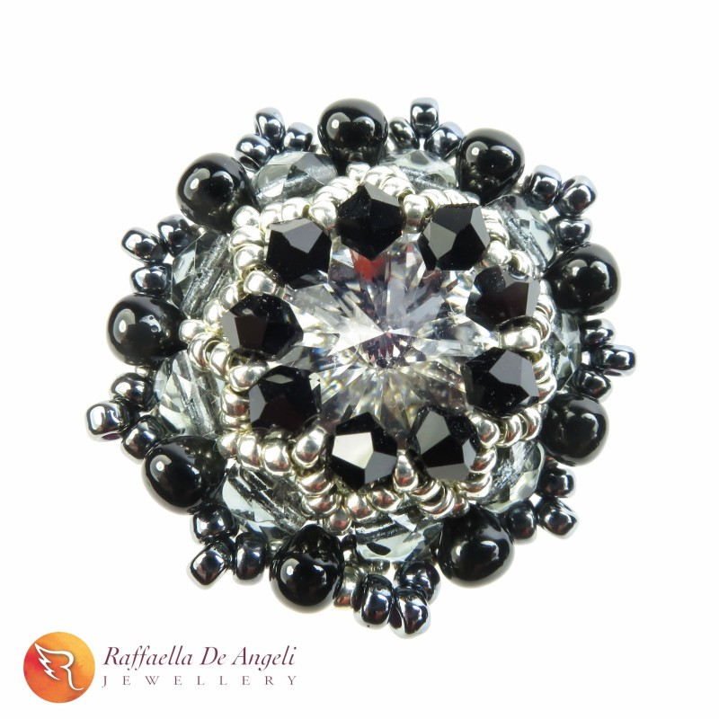 Ring swarovski black Beatrice 04