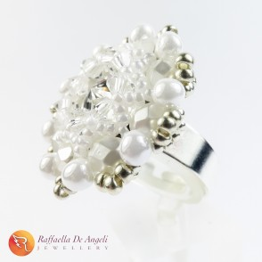 Ring swarovski white Beatrice 05