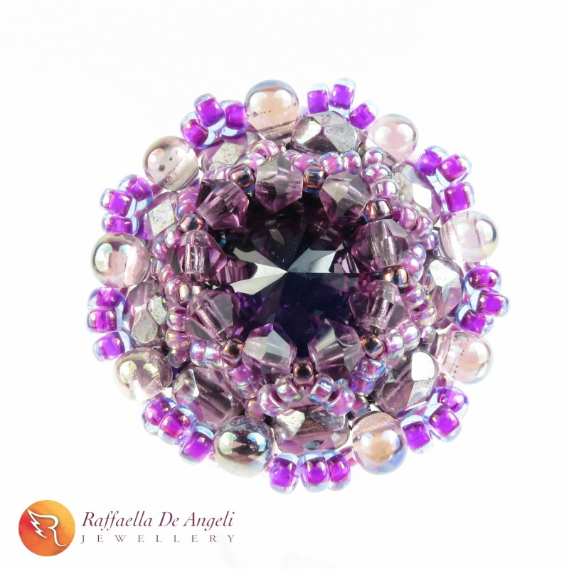 Ring swarovski purple Beatrice 06