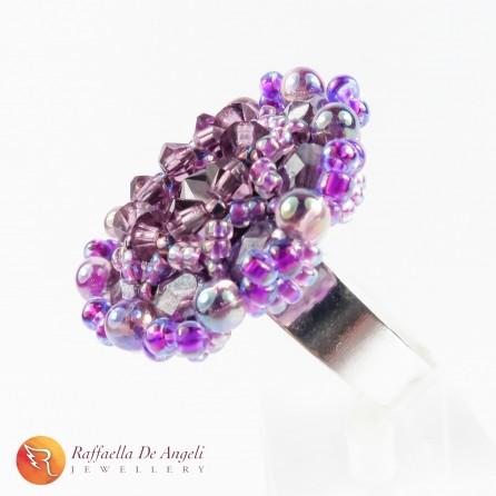Ring swarovski purple Beatrice 06