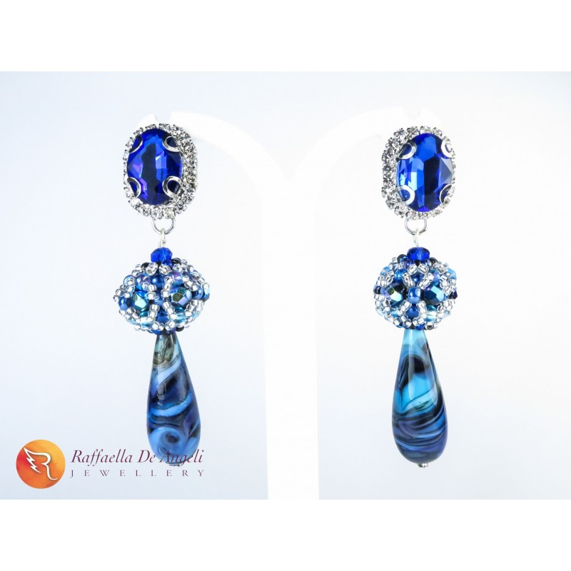 Earrings blue murano Sveva 02