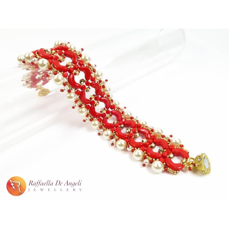 Bracciale perline arcos rosso Aurora 05