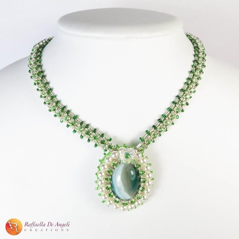 Collana agata verde Lucia 02