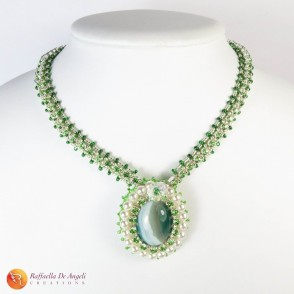 Necklace green agate Lucia 02