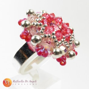 Ring crystal pink Beatrice 08