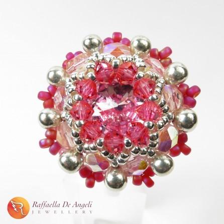 Anello cristallo rosa Beatrice 08