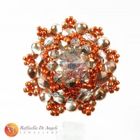 Anello cristallo rosa Beatrice 09