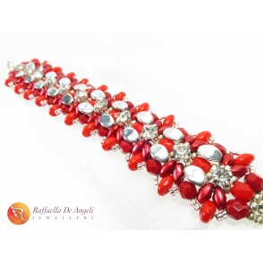 Bracelet superduo red Monica 05