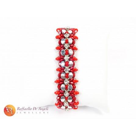 Bracciale superduo rosso Monica 05
