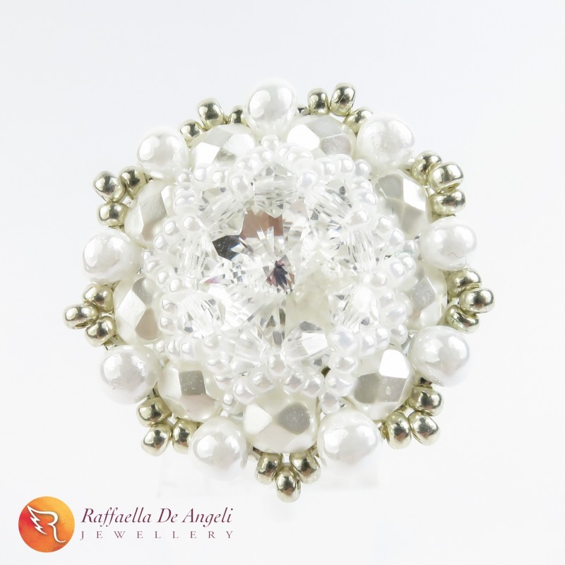 Ring swarovski white Beatrice 05