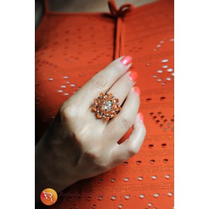 Ring crystal copper Beatrice 09
