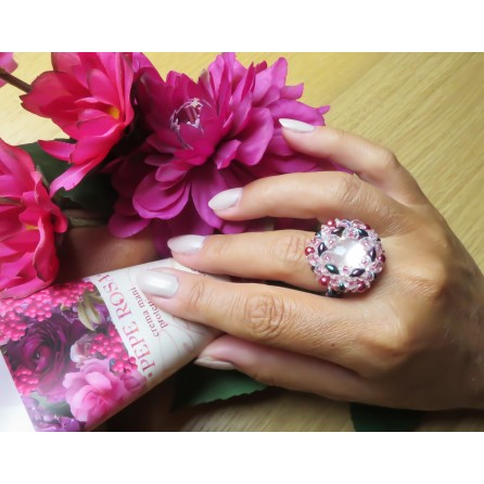 Ring crystal superduo Dalia 08