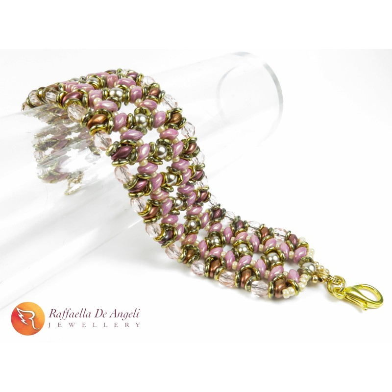 BRACCIALE TAN AND PINK Adriana 01