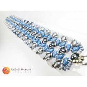 Bracciale blue and grey Adriana 03