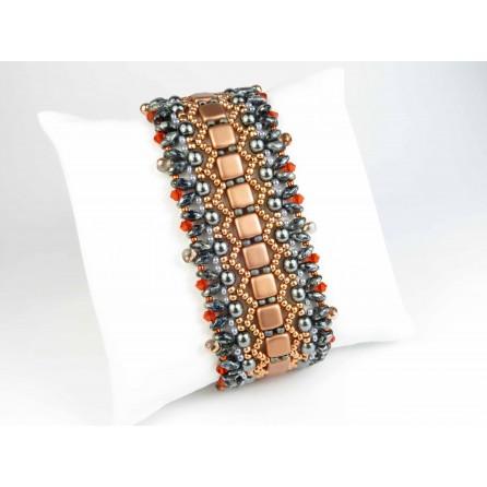 Bracciale copper and grey Fulvia 01