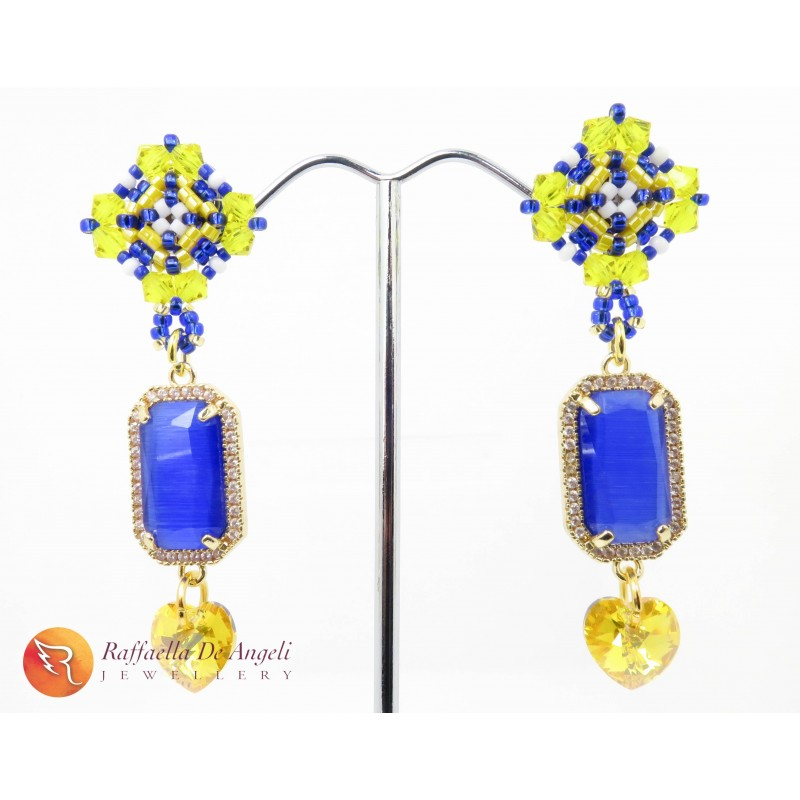 Earrings beads glass Murano Emma 05