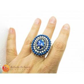 Ring beads Toho blue Vittoria 01