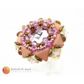 Ring cabochon pink Eleonora 02