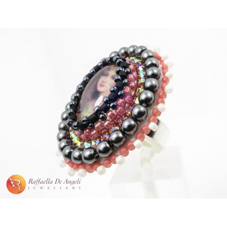 Ring pink peyote Vittoria 03