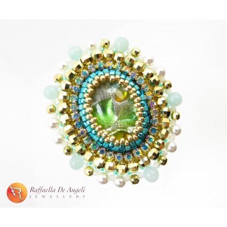 Anello verde peyote Vittoria 05