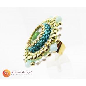 Ring green peyote Vittoria 05