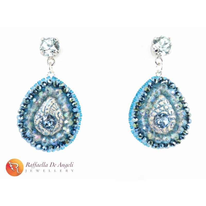 Earrings blue Prisca 02