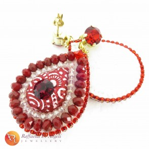 Earrings red Prisca 03