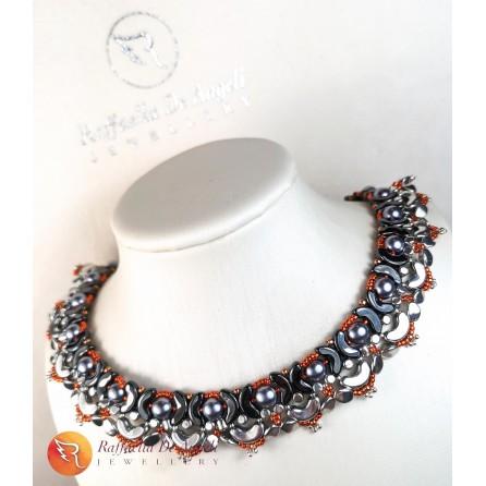 Necklace rust silver Lucrezia 02